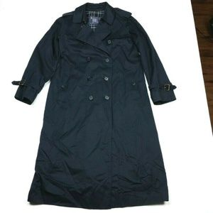 Burberrys' Burberry Navy Blue Trench Coat 10 Long